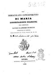 Sull'immacolato concepimento di Maria dissertazione polemica del cardinale Luigi Lambruschini