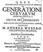 Diss. philol. phys. de generatione cervarum, ad Jobi C. 39,4-6