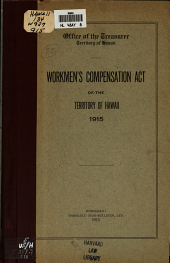 Workmen's Compensation Act of the Territory of Hawaii, 1915