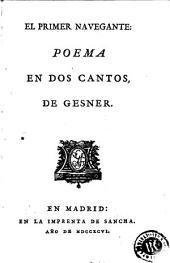 El Primer navegante: poema en dos cantos