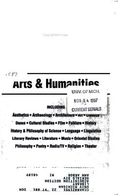 Current Contents  Arts   Humanities PDF