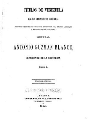 Titulos de Venezuela en sus limites con Colombia PDF