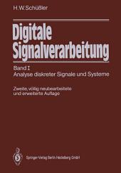 Digitale Signalverarbeitung: Band I Analyse diskreter Signale und Systeme, Ausgabe 2