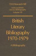 British Literary Bibliography  1970 1979 PDF