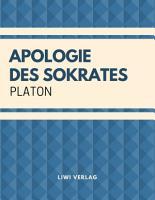 Apologie des Sokrates PDF