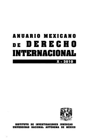Anuario mexicano de derecho internacional