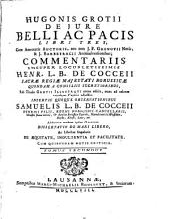 Hugonis Grotii De jure belli ac pacis libri tres: Volume 2