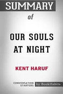 Summary of Our Souls at Night by Kent Haruf: Conversation Starters