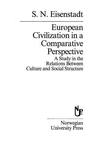 European Civilization in a Comparative Perspective