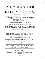 A new method of chemistry     translated     By Peter Shaw     The third edition corrected PDF