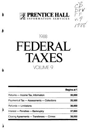 Prentice Hall Federal Taxes PDF