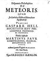 Disputatio philosophica de meteoris