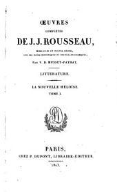 Œuvres complètes de J.J. Rousseau: La nouvelle Héloise