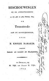 Beschouwingen bij de overstrooming op den 4den en 5den februarij 1825, en troostrede aan de noodlijdenden