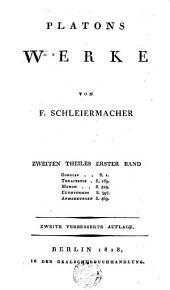 Platons Werke: Bände 1-2