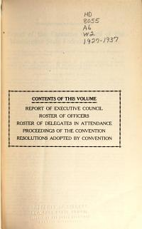 Proceedings of the     Annual Convention of the Washington State Federation of Labor PDF