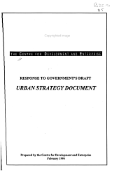 Response to Government s Draft  Urban Strategy Document PDF