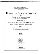 Digest of Appropriations for the Support of the Government of the United States    PDF
