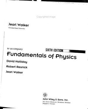 Fundamentals of Physics    Problem Supplement No  1 PDF