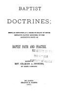 Baptist Doctrines PDF
