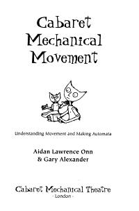 Cabaret Mechanical Movement