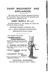 Cheese and Cheese-making, Butter and Milk: With Special Reference to Continental Fancy Cheeses
