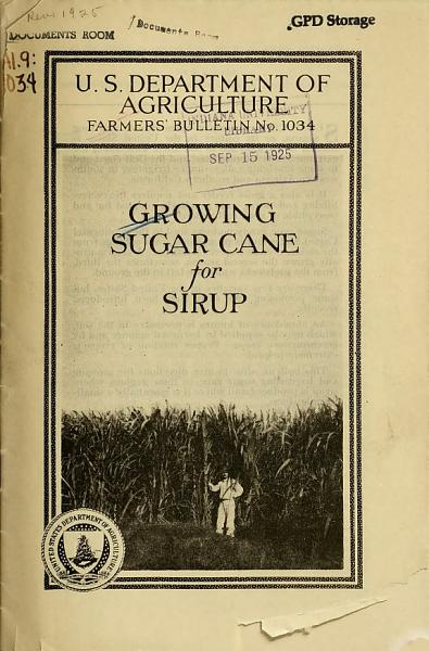 Download Growing Sugar Cane for Sirup Book