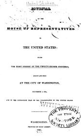 Journal of the House of Representatives of the United States: Volume 22, Issue 1