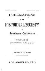 Annual Publication of the Historical Society of Southern California
