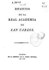 Estatutos de la Real Academia de San Carlos