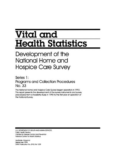Development of the National Home and Hospice Care Survey PDF