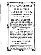 Las confesiones de N.G. Padre S. Augustin ; tomo I: enteramente conformes a la edicion de San Mauro