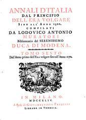 Annali d'Italia, dal principio dell'era volgare sino all'anno: Volume 6