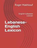 Lebanese - English Lexicon