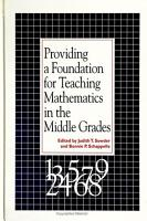 Providing a Foundation for Teaching Mathematics in the Middle Grades PDF