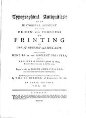 Typographical Antiquities: Volume 3