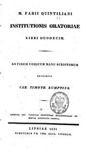 Institutionis oratoriae libri duodecim