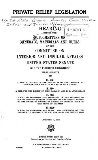Private Relief Legislation PDF