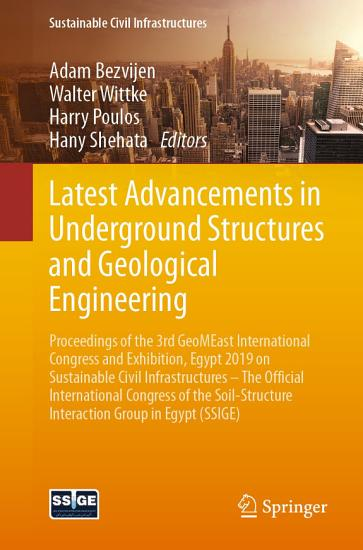 Latest Advancements in Underground Structures and Geological Engineering PDF