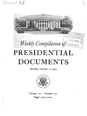 Weekly Compilation of Presidential Documents