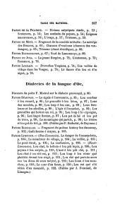 Les patois de la France: recueils de chants, noëls, fables, dictons, dialogues, fragments de poèmes, composés en principaux dialectes de la France