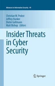 Insider Threats in Cyber Security Book