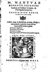 Enchiridion rerum singularium