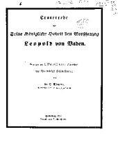 Trauerrede auf Seine Königliche Hoheit den Grossherzog Leopold von Baden