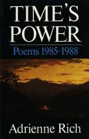 Time s Power  Poems 1985 1988 PDF