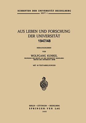 Aus Leben und Forschung der Universit  t 1947 48 PDF