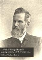 The Christian Apostolate Its Principles Methods   Promise in Evangelism PDF