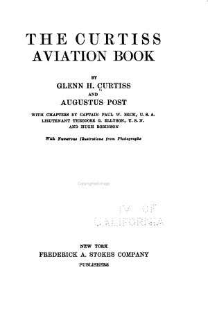 The Curtiss Aviation Book