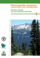 Forest Genetic Resources Conservation and Management  Overview  concepts and some systematic approaches PDF