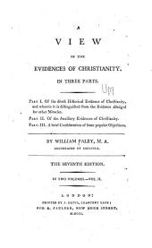 A view of the evidences of Christianity: in three parts, Volume 2